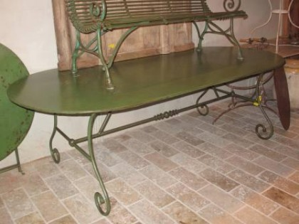 Oval Garden Table