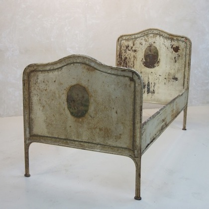 Painted French Iron Bed