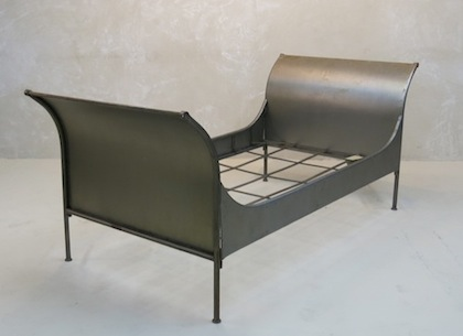 Italian Brushed Steel Bed